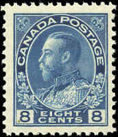 Mint NH Canada 8c 1925 F+ Scott #115 King George V Admiral Issue Stamp