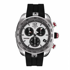 TISSOT PRS 330 CHRONOGRAPH DATE RUBBER STRAP MEN'S WATCH T076.417.17.087.00 NEW