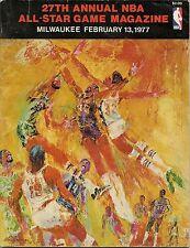 1976-77 NBA All Star Game Program @ Milwaukee West Nips East by One NICE!!