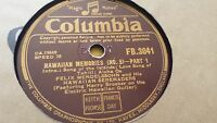 FELIX MENDELSSOHN'S HAWAIIAN SERENADERS HAWAIIAN MEMORIES NO 5 COLUMBIA FB3041