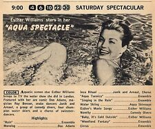 "1956 TV AD~SWIMMER ESTHER WILLIAMS ""AQUA SPECTACLE"" ~ JANIK & ARNAUT~ROY BENSON"