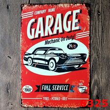 Tin Sign Vintage Retro Metal Bar Garage Wall Decor Poster Garage Full Service
