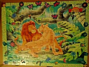 """Disney The Lion King 11.5"""" x 15"""" 70 Pieces Sticker Puzzle Complete Pre-owned"""