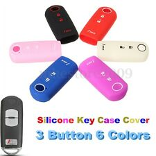 3 Button Silicone Cover Remote Smart Key Case Shell For Mazda 3 CX-5 CX-7