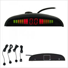 4 x Car LED Display Sensors Parking Radar System Auto Backup Reverse Alarm Kit
