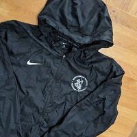 Nike Black Windbreaker Outdoor Jacket Boreham Wood Youth FC Zip Up - Size Medium