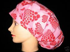 Surgical Scrub Hats/Cap~Valentines-red circle hearts!~