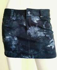 NWT $125 DIESEL Mini Skirt Black Gray Camouflage Leather Application Size 27