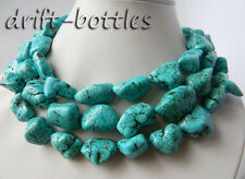 Turquoise Necklace 50'' 17Mmx25Mm Freeform