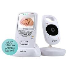 "ORICOM 2.4GHZ DIGITAL VIDEO BABY MONITOR 2.4"" SCREEN WHITE BABIES ENCRYPTED"