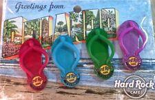 Hard Rock Cafe ORLANDO 2014 FLIP FLOPS Guitars 4 PIN SET on Greetings From CARD