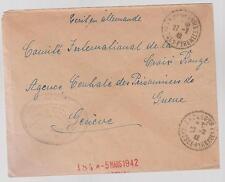 1942 France Concentration Internment Camp de Gurs prisoner Cover G Rosenthal