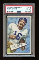 1952 Bowman Large Set Break # 16 Frank Gifford RC PSA 6 EX-MT