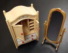 Tomy Vintage Smaller Home & Garden Dollhouse Furniture Dresser and mirror