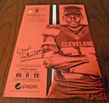 12/10/17 CLEVELAND BROWNS VS GREEN BAY PACKERS FOOTBALL DAVID NJOKU POSTER CARD