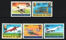 Avions Tchad (23) série complète de 5 timbres oblitérés