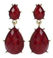 Amrita Singh Womens Hampton Ruby Red Resin Earrings ERC 835 NWT