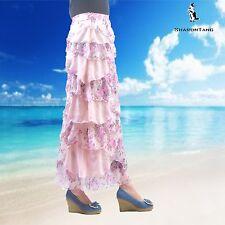SHARON TANG Modest Apparel Long Chiffon Ruffle Layer Skirt M ST132080002-113