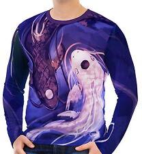 Koi Fish Mens Long Sleeve T-Shirt Tee wa2 aao43526