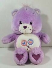 "Care Bears Share Bear Purple 13"" Plush Talks Sings 2003 Works Lollipop"