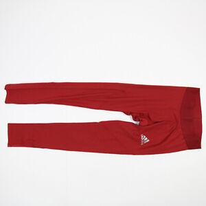 No Current Team adidas Alphaskin Compression Pants Men's Red