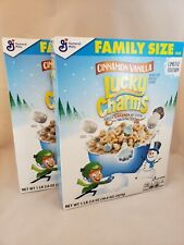 ( Lot of 2 )Lucky Charms Cinnamon Vanilla Cereal 18.6 oz limited edition GM 2019