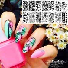 1Pc BORN PRETTY Nail Art Stamping Image Plate Stamp Stencil Flower Theme BP-L024