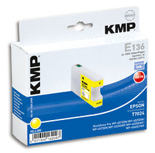 KMP Patrone E136 für Epson T7024 Workforce Pro WP-4015DN 4025DW etc. yellow