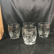 Set of 4 Anchor Hocking CENTRAL PARK Twist Old Fashioned Glass Tumblers