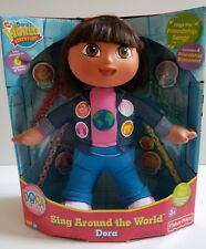 NEW Dora the Explorer ALL AROUND THE WORLD Doll 2005 sings