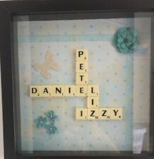 Personalised Wedding Gift / Frame / Bride & Groom / Lego / Scrabble / Family