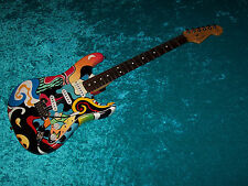 Wow USA FENDER American strat Stratocaster guitar custom paint job vintage desig