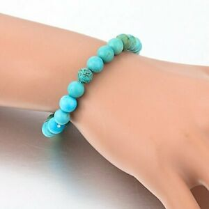 AAA Quality Turquoise 8 MM Beaded Special Stretch 2 Bracelet For Men & Women