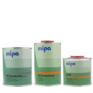 (17,60€/ L)Mipa EP-Grundierfüller Set 2K (Füller + Härter + Verdünnung) 2,5L