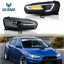 LED Projector Front Headlight For 08-17 Mitsubishi Lancer w/Dynamic Turn Signal