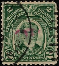 Philippines - 1906 - 2 Cents Deep Green Jose Rizal Definitive Issue # 241 F-VF