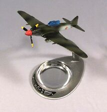 Model Airplane IL-2 Russian Metallic Old Vintage Soviet Plane Ashtray IL2 WWII