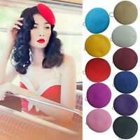 Round Button Wool Felt Pillbox Hat Millinery Fascinator Base Cocktail Party A227