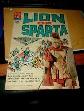 VINTAGE 1962 Dell Comics LION OF SPARTA VG FN Movie  Comic 12 Cent