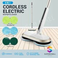 Electric Rotating Spin Mop Cordless Floor Cleaner Sweeper Washer Wax Polisher