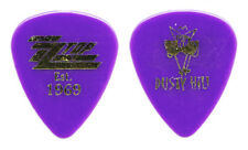 Zz Top Dusty Hill Signature Purple Guitar Pick - 2017 Tonnage Tour