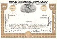 Penn Central Company - Stock Certificate