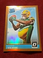 2018 PANINI DONRUSS OPTIC RATED ROOKIE BRONZE PRIZM J'MON MOORE RC #182 PACKERS
