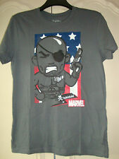 MARVEL CAPTAIN AMERICA TOKIDOKI T-SHIRT, GREY, MEDIUM, OFFICIAL MERCH