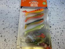 Fladen 80mm Soft Shads & jig head Lure Fishing Set Pike Perch Zander Trout 803