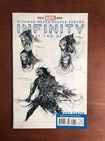 Infinity #2 (2013) 9.2 NM Marvel Key Issue Comic Sketch 1:50 Variant Avengers