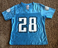 VINTAGE TENNESSEE TITANS   # 28 JOHNSON  FOOTBALL JERSEY  BY NFL  WOMAN SMALL