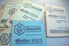 Arnoldi Turnverein Sportverein GOTHA 1901 17 Nachrichtenblätter 1937 Thüringen