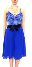 REVIEW -  fabulous 50's style dress, royal blue/polka dot, sz. 10 NWOT $189.00