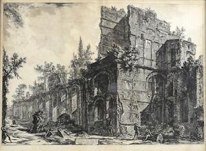 Piranesi, Giovanni Battista (Italian, 1720-1778) Etching Hadrian's Villa 1774